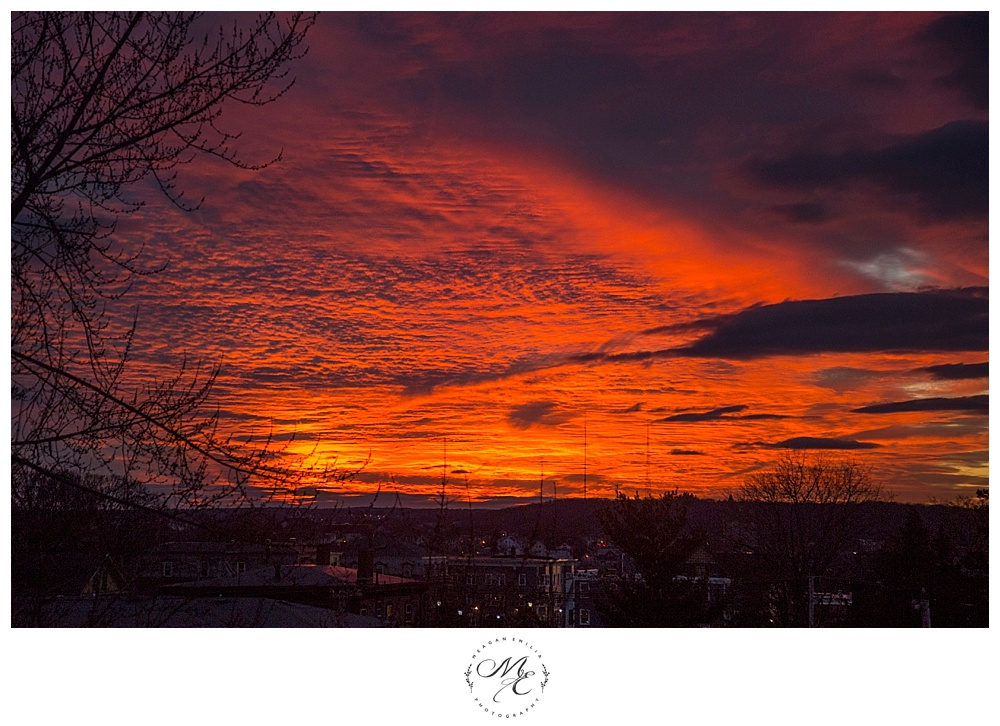 Sunset view in Providence, Rhode Island ©Meagan Emilia Photography