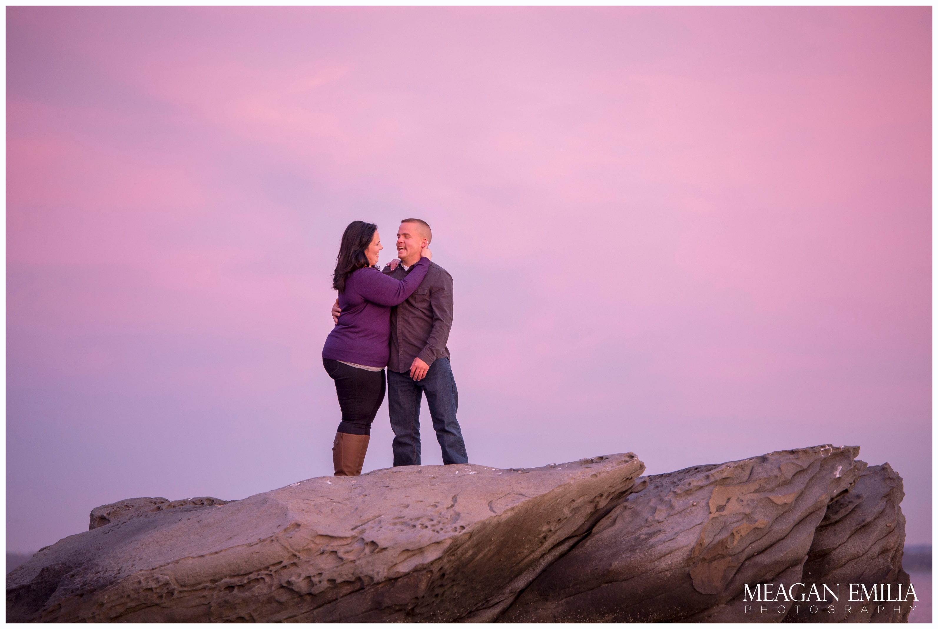 Danielle & Greg engagement photos at Rocky Point State Park in Warwick, RI.