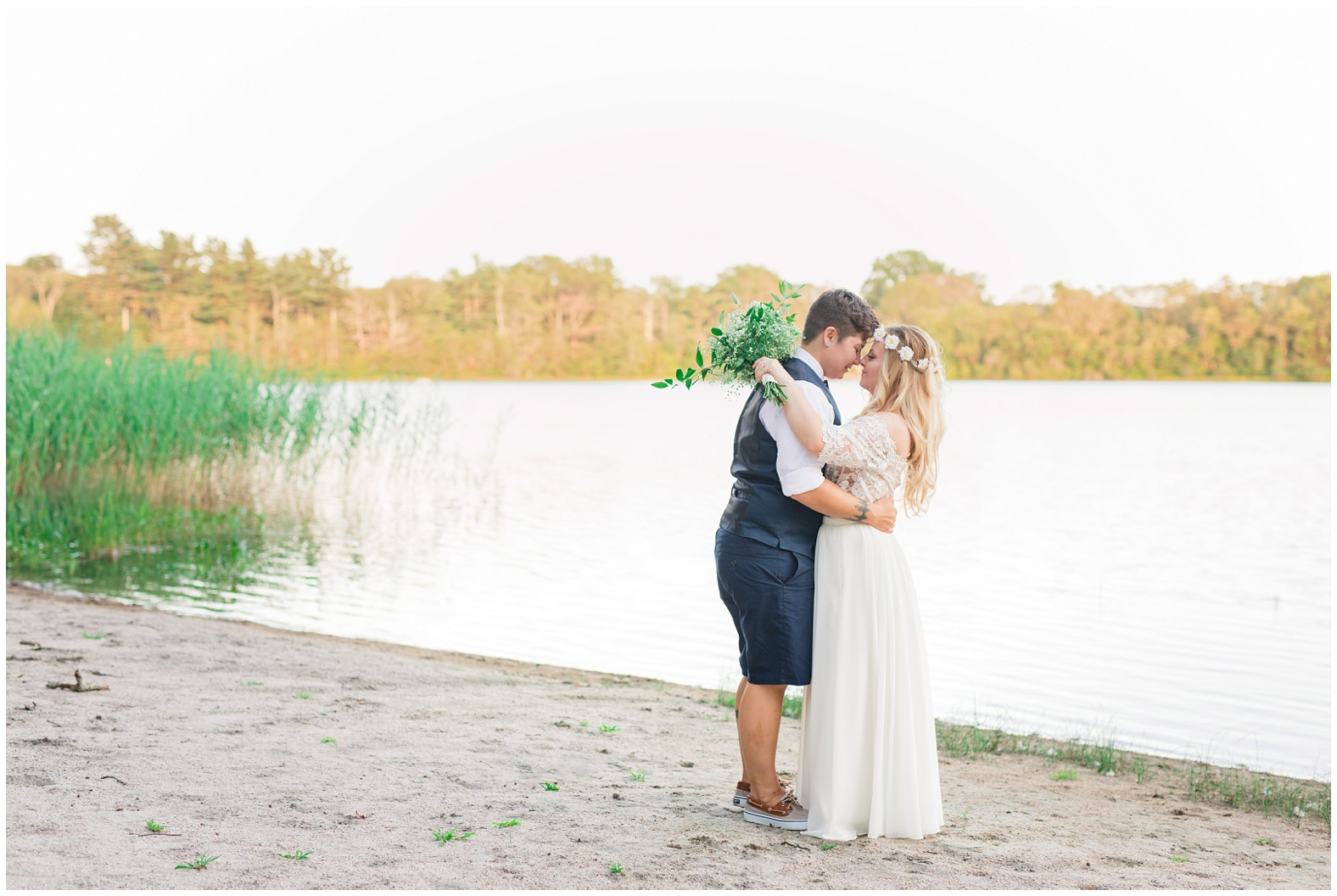 Erin + Lo: Simple, Natural, Woodsy Wedding at Camp Hoffman in South ...