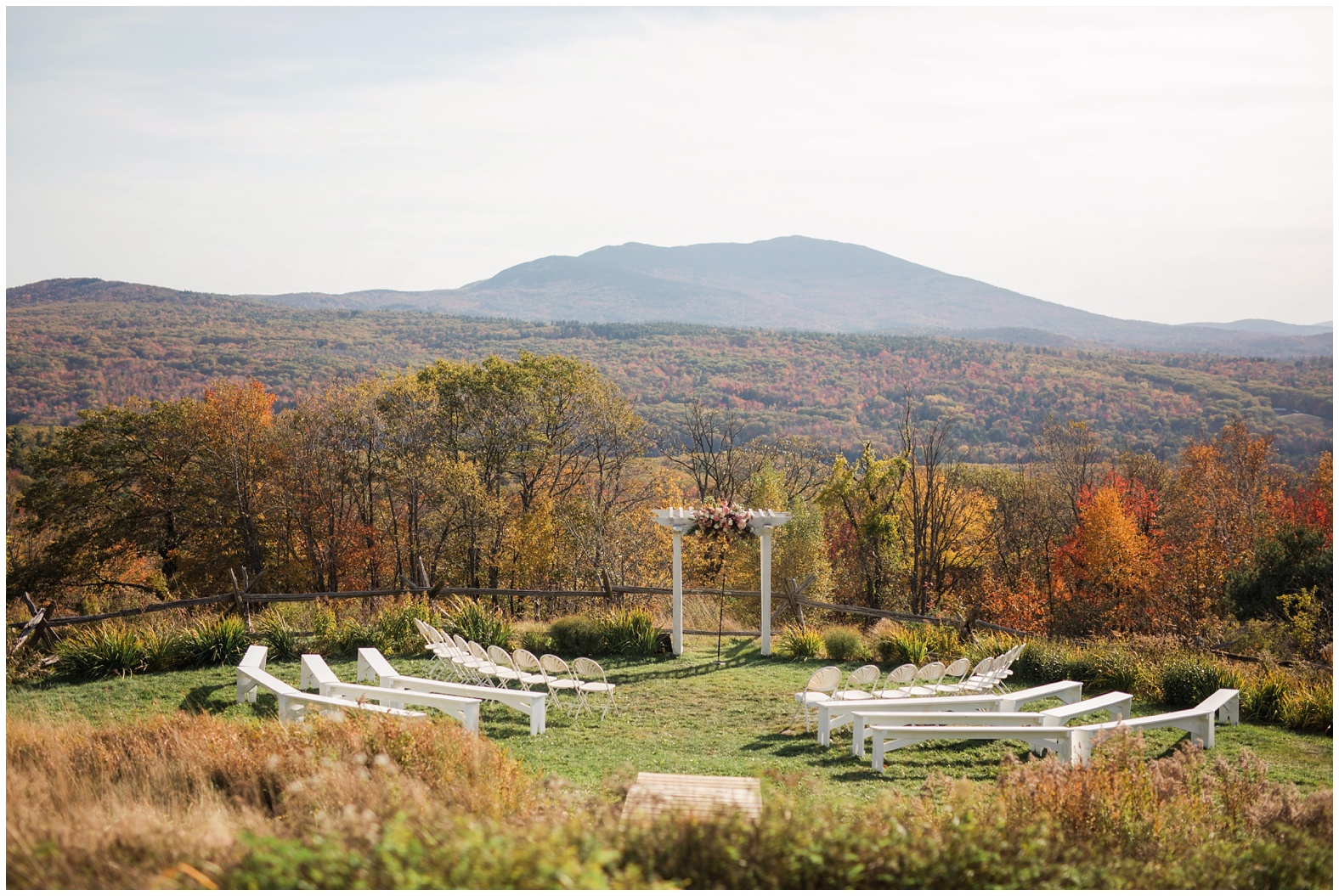 alison roy scenic fall mountain wedding at cobb hill
