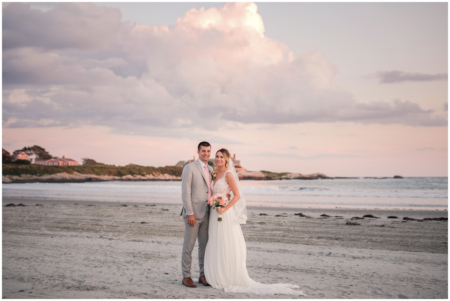 Sunset Beach Wedding At Bailey S Newport Ri